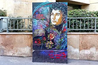 Sunday Street Art : C215 - Série Illustres ! autour du Panthéon - Portrait de Jean Lannes - rue de l'Estrapade - Paris 5