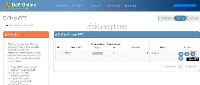 eFiling Kode Pembetulan Sudah Digunakan Untuk Jenis Formulir SPT yang Lain