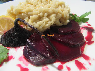 Risotto with beetroot