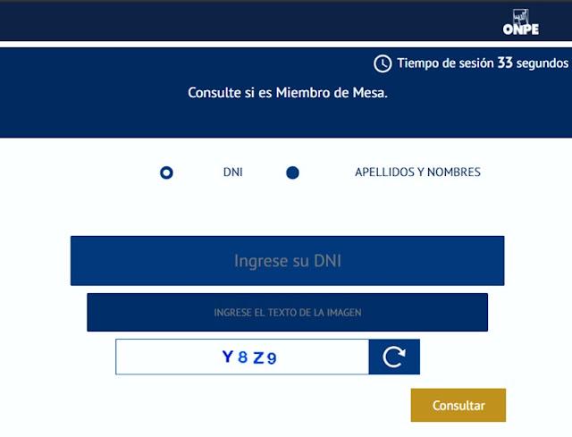 ONPE: Conoce si eres miembro de mesa para las Elecciones 2020