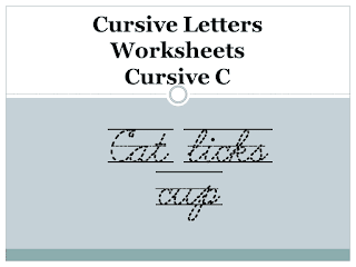 Cursive Letters Worksheets - Cursive C