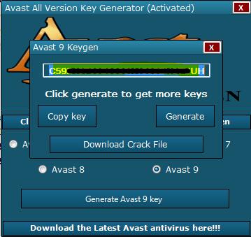 avast antivirus license key crack