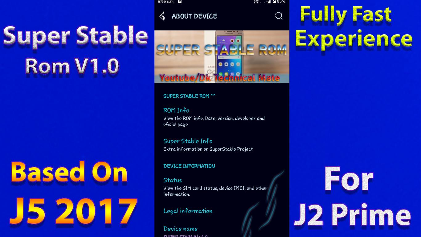 Super Stable Rom For J2 prime