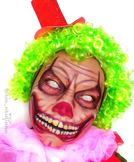 Clown makeup look