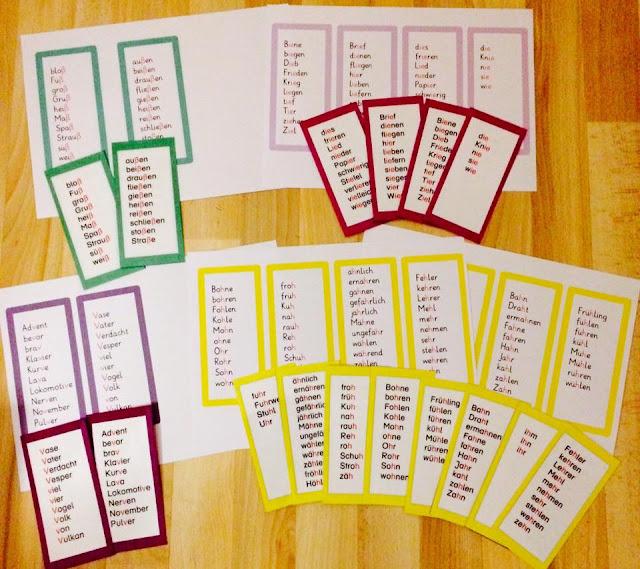 15. Türchen: Lernwörter üben Teil 2