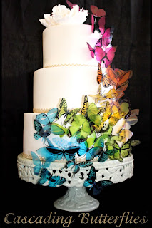 rainbow butterfly wedding cake wedding cakes pictures rainbow butterly wedding cakes 18957
