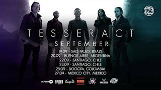Concierto de TESSERACT en Bogotá Septiembre 2020