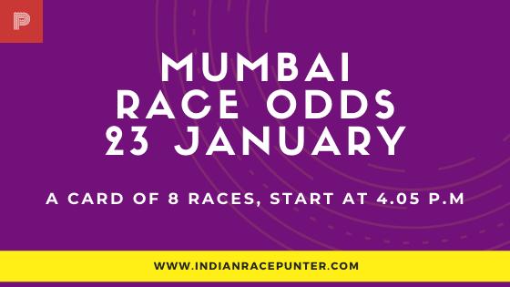 Mumbai Race Odds 23 February, Race Odds,