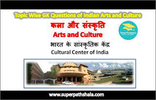 भारत के सांस्कृतिक केंद्र GK Questions Set 2
