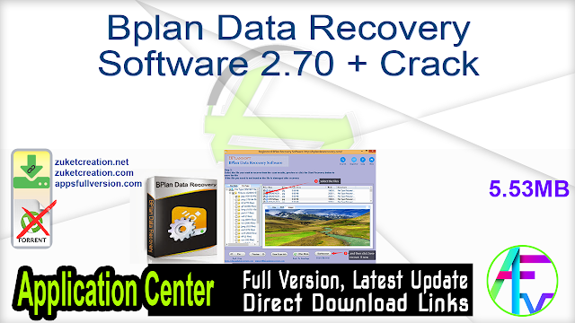 Bplan Data Recovery Software 2.70 + Crack