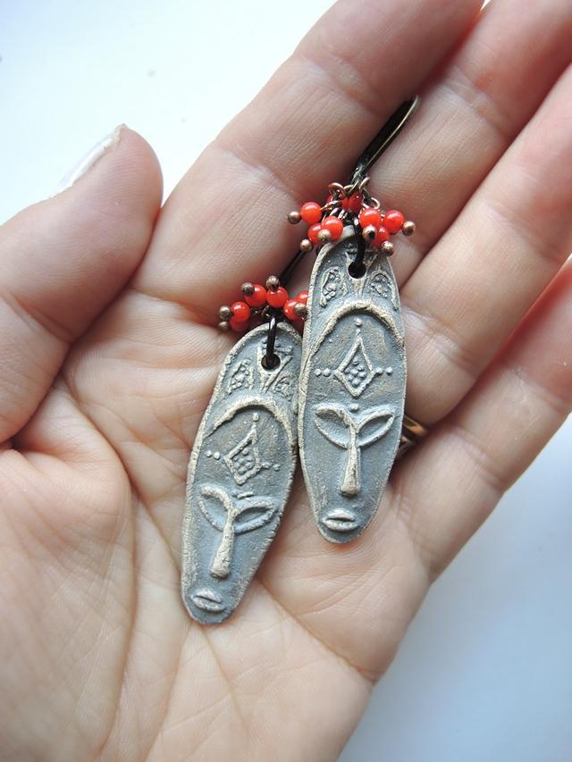 DIY oorbellen/earrings 'ancestors'