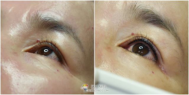 Ivy Brow Design Inner Eyeliner Tattoo Before and After - Left Eye