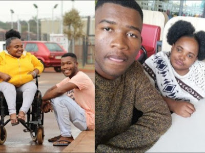 Man marries his physically challenged longtime girlfriend after for 4 years courtship  (Photos)