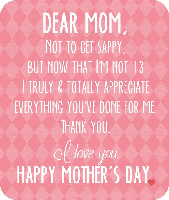 Thank you mom for everything quotes poems pictures from daughter son