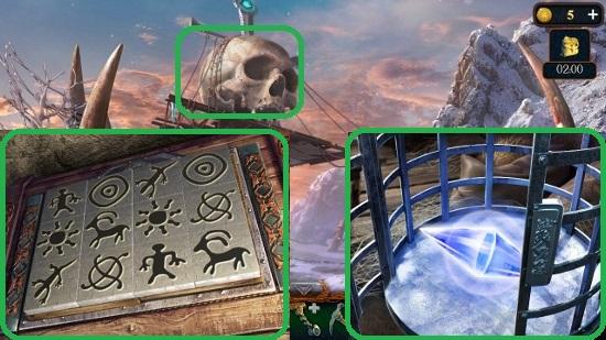 забираем элемент купола по результатам мини игры в игре затерянные земли 5