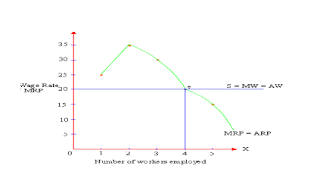 Marginal Productivity Theory Graph