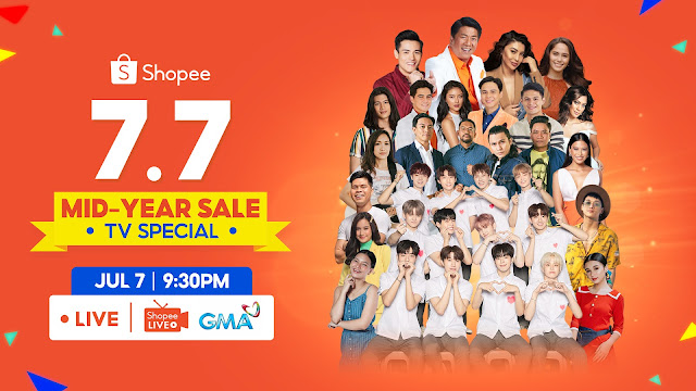 Get a Chance to Win ₱7 Million Worth of Prizes and Enjoy Performances from K-Pop Band Treasure, Spongecola, and Barbie Almalbis at Shopee 7.7 Mid-Year Sale TV Special