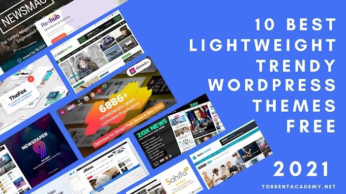 Top 10 best fastest lightweight News WordPress themes 2021