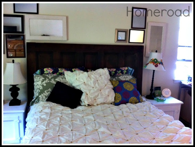 headboard on the bed