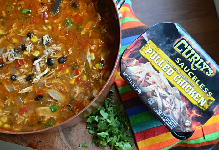 chicken tortilla soup curlys sauceless pulled chicken