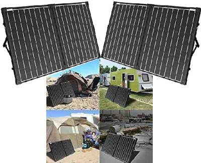 AcoPower Solar Energy Kit: Foldable 100Watts 2-Panel Power Generator with Charger Controller