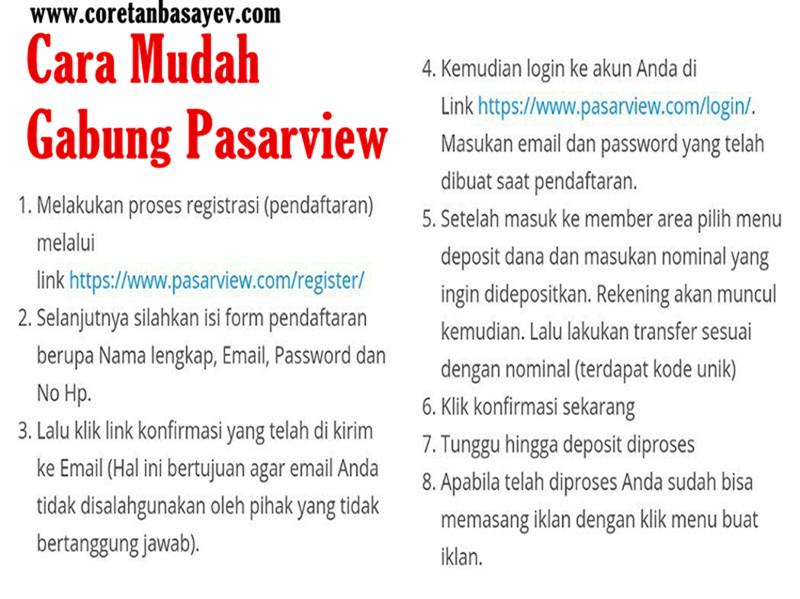 Cara Mudah Gabung Pasarview