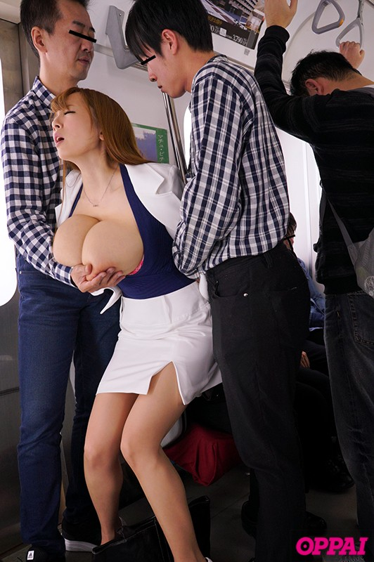 Japanese busty babe in uniform has sex