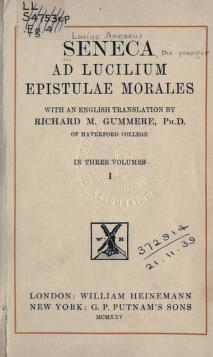 Seneca Letter to Lucilius