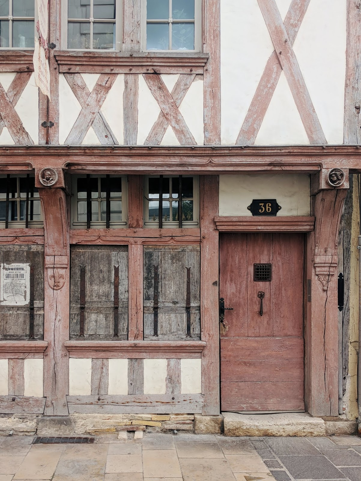 pink half timbered house