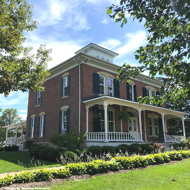Elegant Peck House standing regally on the farm
