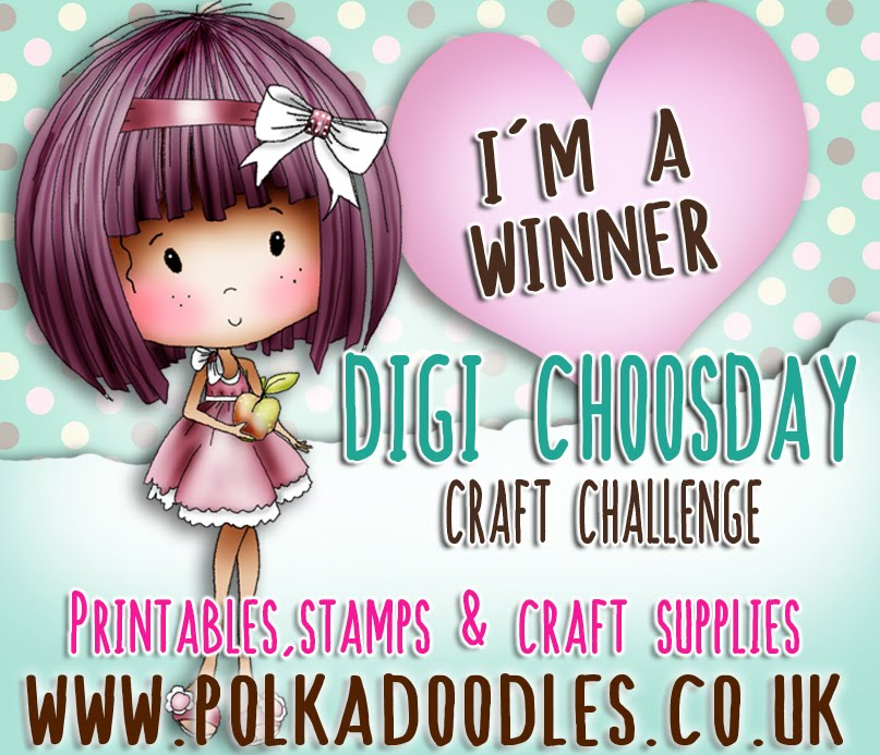 I'm a winner at Digi Choosday Polkadoodles Challenge