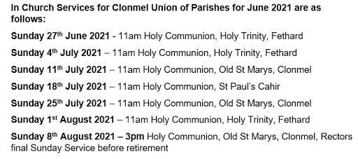 Services July and August 2021