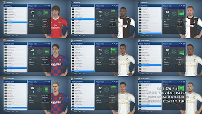 It includes some new updates for the upcoming  Update, PES 2017 Option File for Tauvic99 Patch Based Live Update 08-06-19 by Miruuku