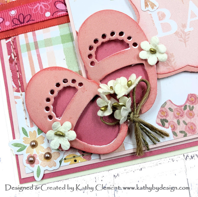 Echo Park Welcome Baby Girl Die Cut Shoes by Kathy Clement