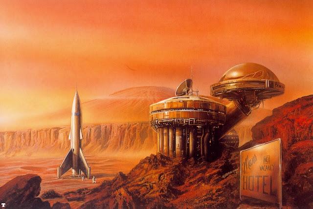 Retro style Mars art