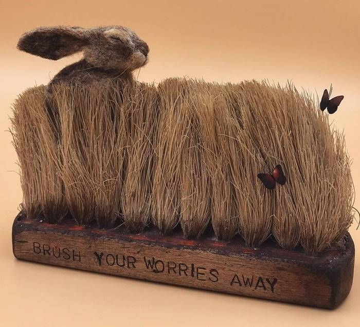British Artist Simon Brown Create Beautiful Fairytale Theme Art By Using Old Brushes → It is curious how some objects that seem useless to us may be super important to others.