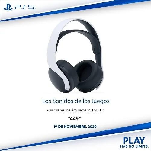 PRECIO AURICULARES PULSE 3D PLAYSTATION 5 OFICIAL