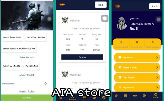 BattleField Pubg Tournament Match aia for Kodular And Easily Earn 500$ Every Month
