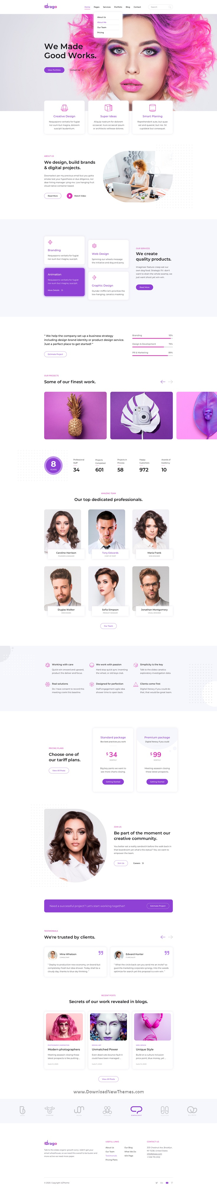 Digital Agency Adobe XD Template