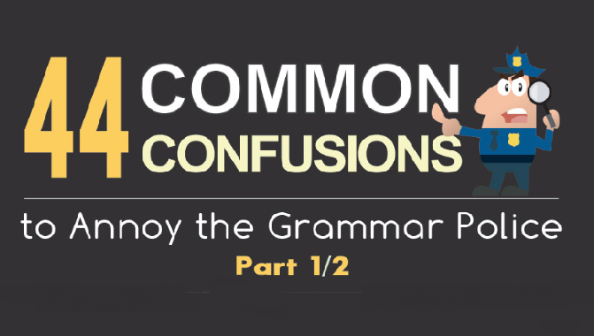 44 Common Grammar Mistakes #Infographic