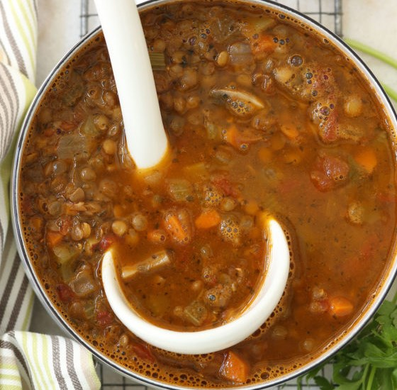 ITALIAN LENTIL SOUP #vegetarian #lunch