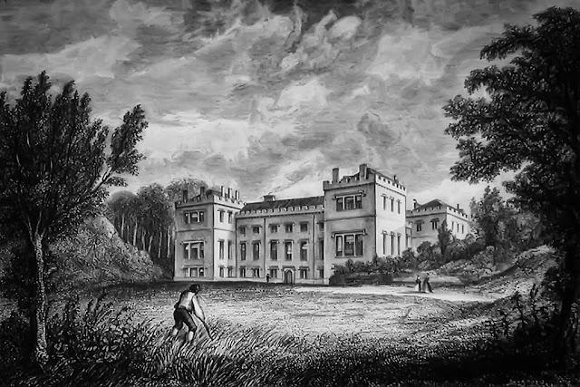 Print Of Whitehaven Castle by W Kinnebrook, 1842