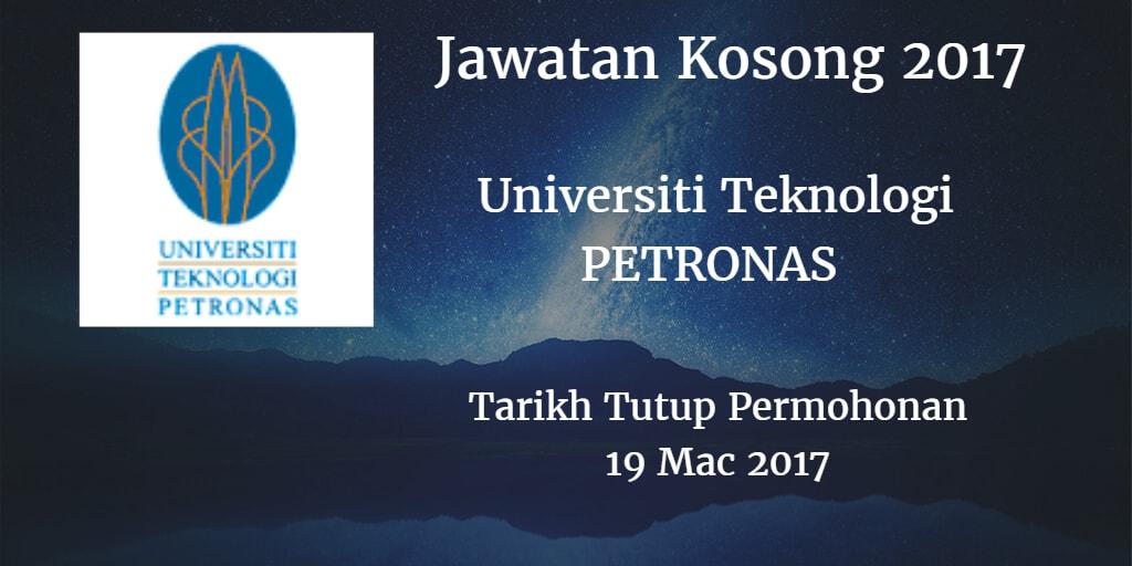 Jawatan Kosong UTP 19 Mac 2017
