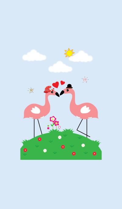 Cute flamingo theme v.1