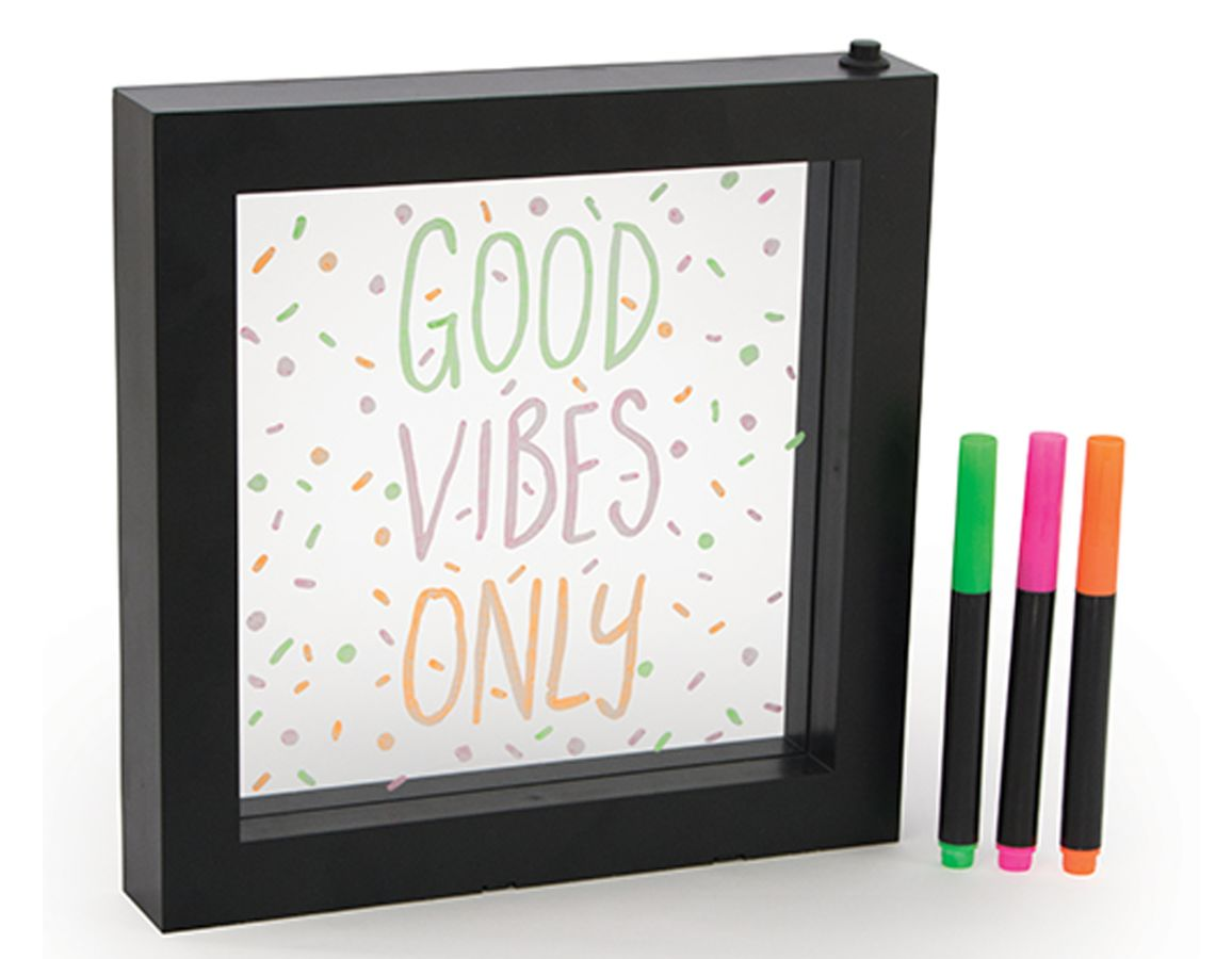 Neon Effect Message Frame