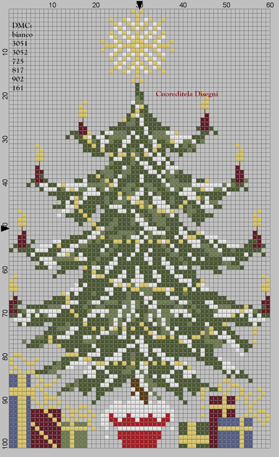 Albero Di Natale Con Foto Amici.Cuoreditela E Disegni A Crocette Albero Di Natale