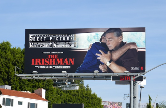 Irishman Golden Globe nominee billboard