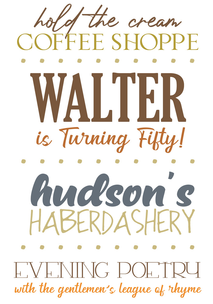 Pairing Masculine Fonts