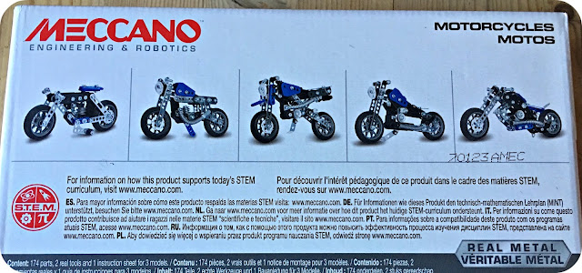 Meccano from Spinmaster, 5 in 1 model motorcycles set