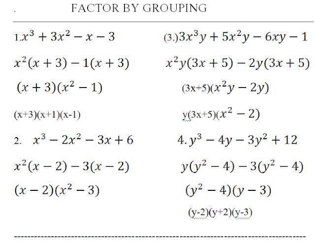 Starter Guide to Factoring Quadratics & Polynomials